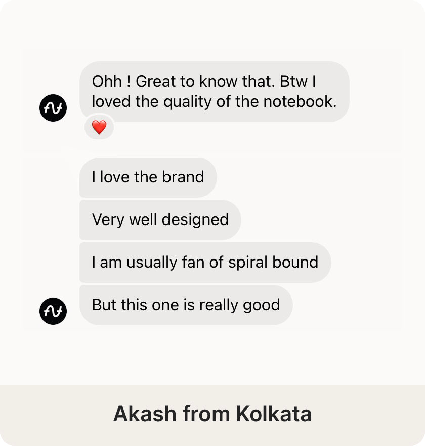 Akash from Kolkata review on the Desk Notebook by Roda