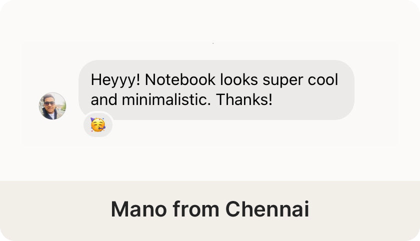 Mano from Chennai review on the Desk Notebook by Roda