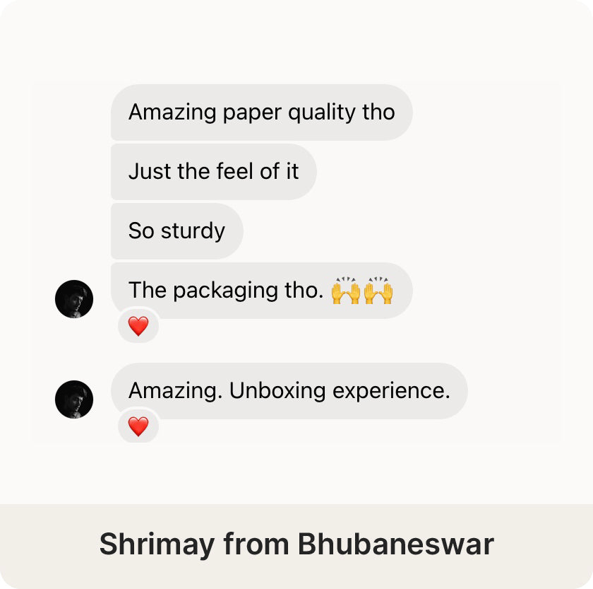 Shrimay from Bhubaneswar review on the Desk Notebook by Roda