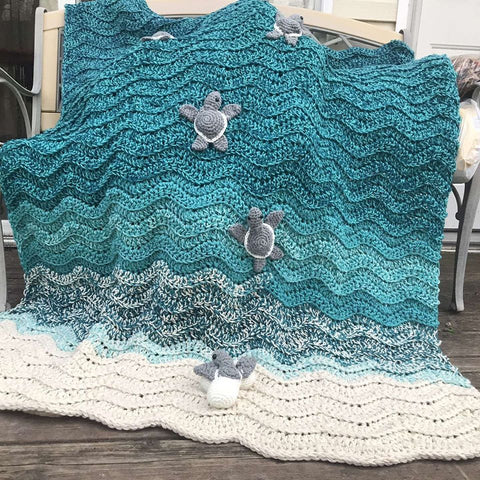 Baby Sea Turtle Hatchlings Blanket