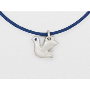 Dove Charm Bracelet in Solid Sterling Silver with Blue Sapphires - My Beautiful Daughters
