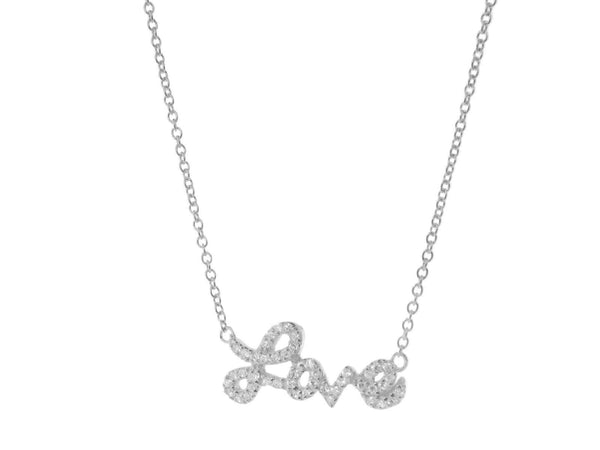 Sparkling Cursive Love Necklace - The Fronay Collection