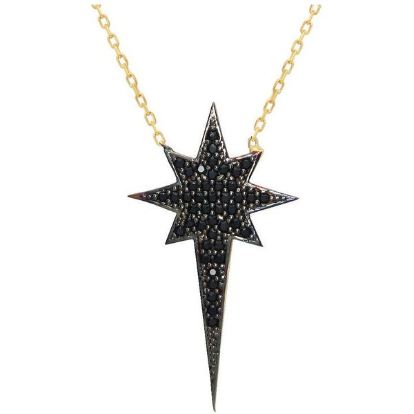 Midnight Starburst Pendant Necklace - The Fronay Collection