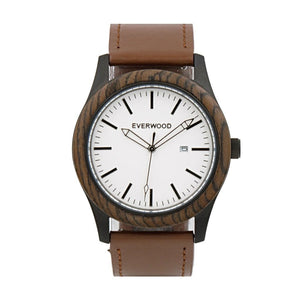 Everwood Watch Company Inverness | Walnut w/ Brown Leather Strap