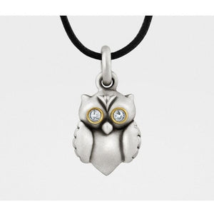 Snake Bones Owl Pendant in Sterling Silver, Gold, & Diamonds - My Beautiful Daughters