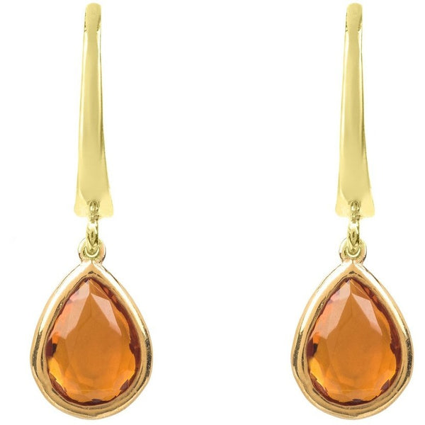 Pisa Mini Teardrop Earring Gold Citrine by Latelita London - My Beautiful Daughters