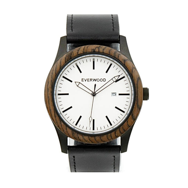 Inverness | Walnut Black Leather from Everwood Watch Compsny