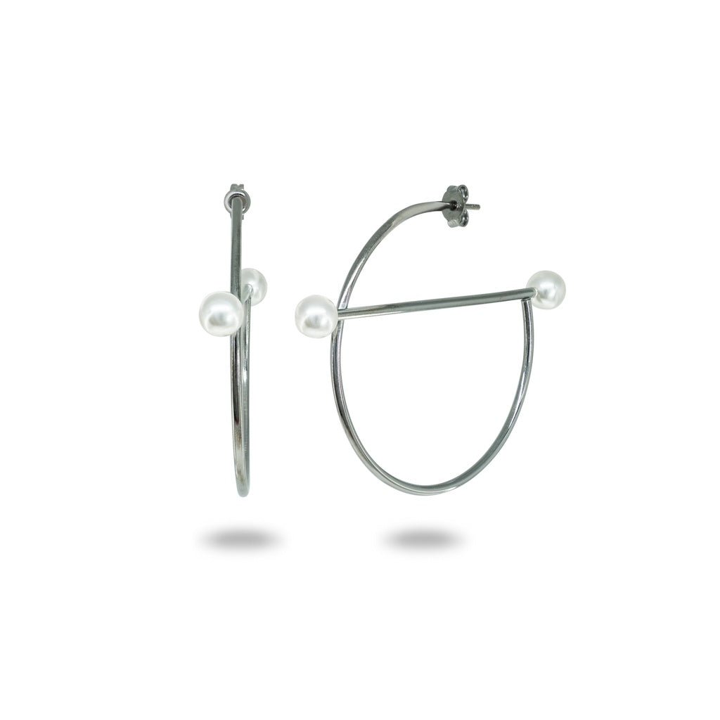 f62a994fc Midnight Swarovski Pearl Constellation Hoops - Fronay Collection