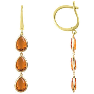 Sorrento Triple Drop Earring Gold Citrine by Latelita London - My Beautiful Daughters