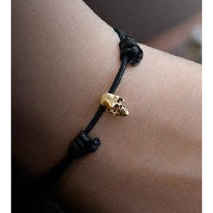 18K Gold Skull Trophy Bracelet from Snake Bones - My Beautiful Daughters