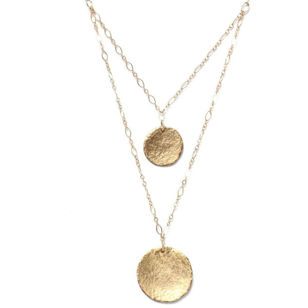Alicia Marilyn Designs Double Strand Coin Necklace - My Beautiful Daughters