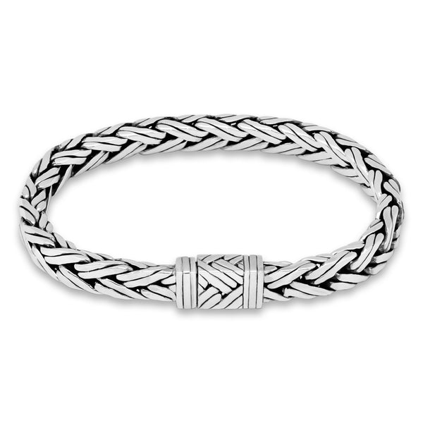 Braided Wheat Chain Bracelet - .925 Sterling Silver - My Beautiful Daughters