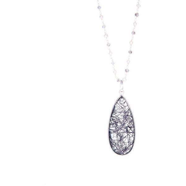 925 Sterling Silver Stone Chain and Semi Precious Pendant Necklace - My Beautiful Daughters