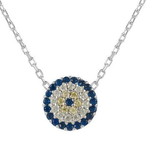 Evil Eye Necklace - Silver from LÁTELITA London - My Beautiful Daughters