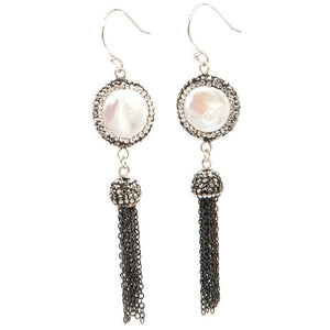 Sheba Coin Pearl Earrings - My Beautiful Daughters