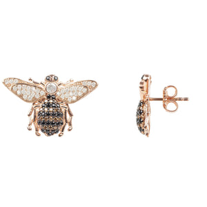 Honey Bee Stud Earrings Rosegold - My Beautiful Daughters