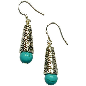 Lana Gemstone Tibetan Silver Earrings - My Beautiful Daughters