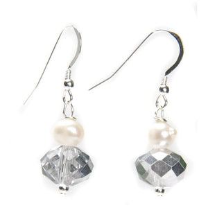 Kristin Pearl and Crystal Earrings - My Beautiful Daughters