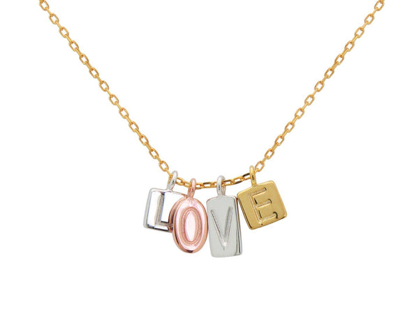 Multi Color Love Letters Necklace