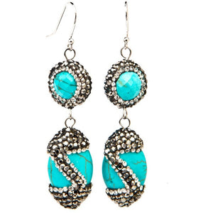 Isis Turquoise Earrings, from PEACE + LOVE +BLING - My Beautiful Daughters
