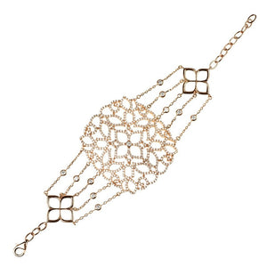 Cassandra Collection 22ct Rose Gold Vermeil Micro pave Filigree Bracelet - My Beautiful Daughters