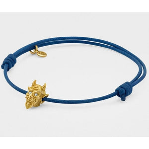 Devil Bracelet in Yellow Gold with Diamond Eyesfrom Snake Bones - My Beautiful Daughters