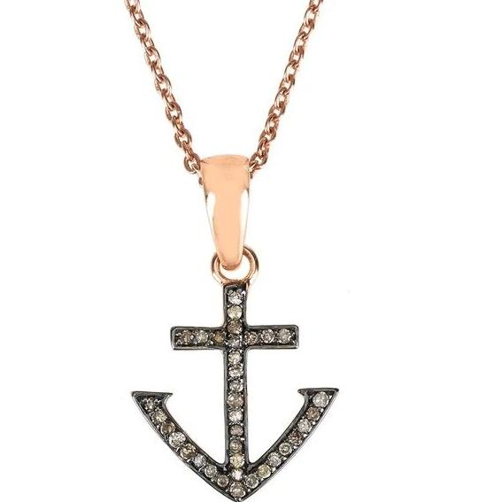 LATELITA London Diamond Anchor Necklace