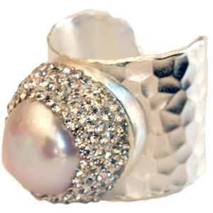 Aphrodite Baroque Pearl Statement Ring - My Beautiful Daughters