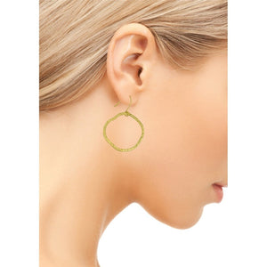Goldenround Hoop Earrings by SÍSÍ Design - My Beautiful Daughters