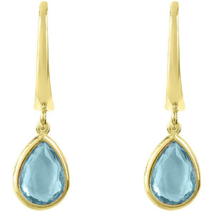 Pisa Mini Teardrop Earring Gold Blue Topaz by Latelita London - My Beautiful Daughters