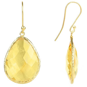 Gold Single Drop Earring Citrine Hydro by LATELITA London - My Beautiful Daughters