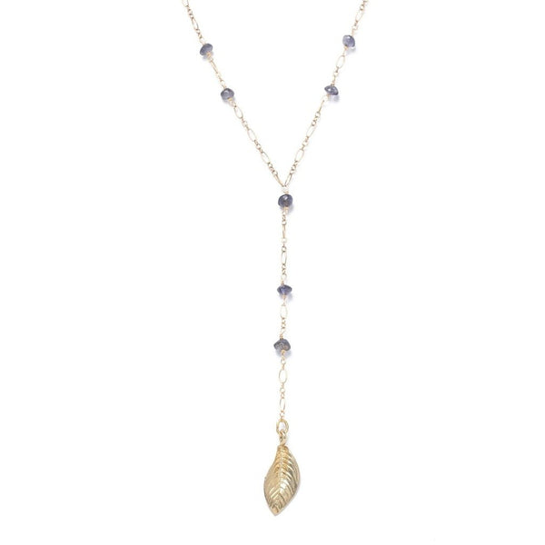 Alicia Marilyn Designs Y-Shaped Iolite Necklace - My Beautiful Daughters