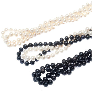 Gatsby Pearl Rope Necklace - My Beautiful Daughters