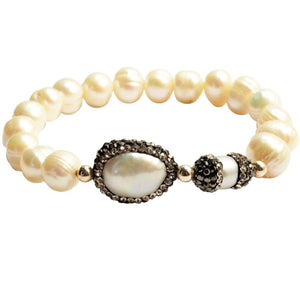 Sheba Pearl and Crystal Bracelet - My Beautiful Daughters