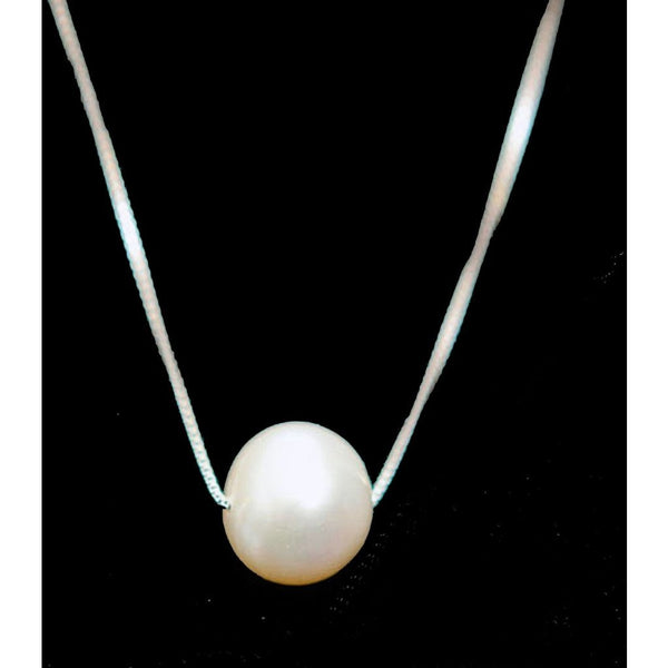 Sterling Silver Cultured Pearl Solitaire Necklace - My Beautiful Daughters