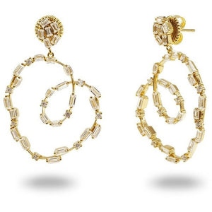 Sparkling CZ Spiral Baguettes Earrings - The Fronay Collection - My Beautiful Daughters