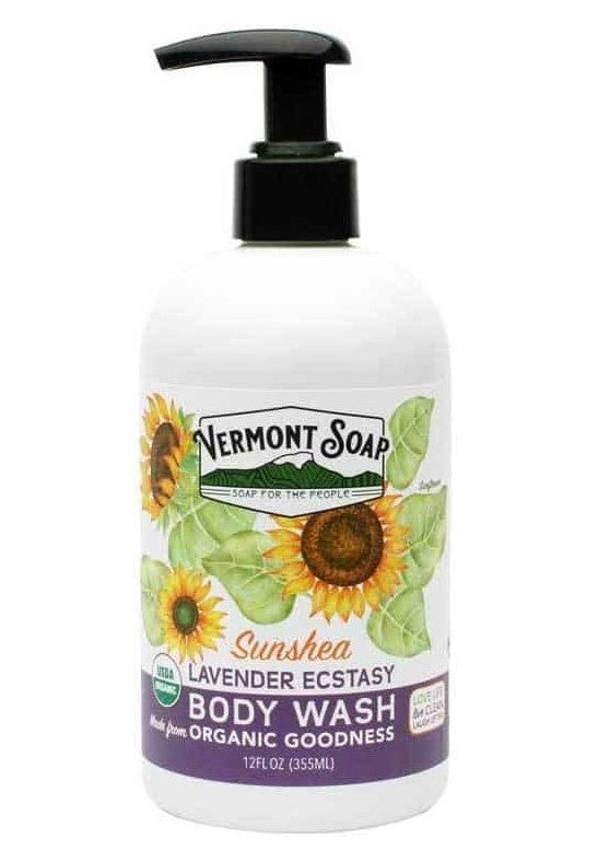 Vermont Soap SunShea Lavender Ecstasy Body Wash 12oz Pump