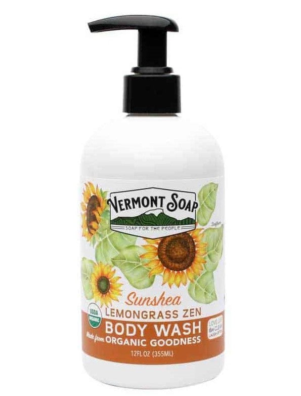 Vermont Soap Lemongrass Zen Body Wash 12oz Pump