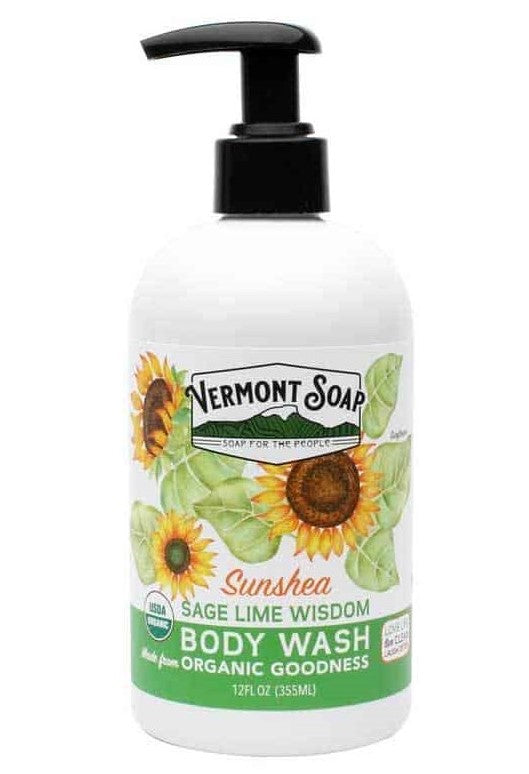 Vermont Soap Sage Lime Wisdom Body Wash 12oz Pump