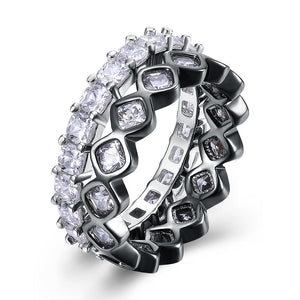 Duo Swarovski Elements Band Rings - My Beautiful Daughters