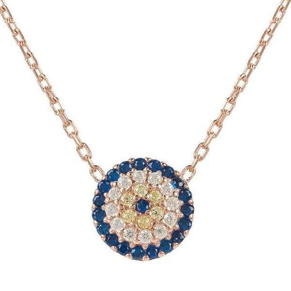 Evil Eye Necklace - Rosegold  from LÁTELITA London - My Beautiful Daughters