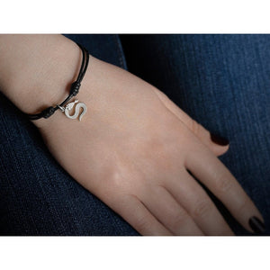 Snake Bones Logo Charm Bracelet in Solid Sterling Silver - My Beautiful Daughters