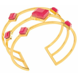 Red Ruby Triple Cuff Bracelet from Völu joyas - My Beautiful Daughters