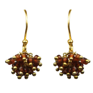 Garnet Cluster Vermeil Earrings Handcrafted by Gena Myint