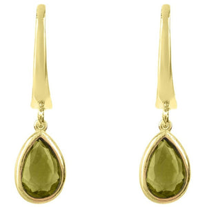 Pisa Mini Teardrop Earring Gold Peridot by Latelita London - My Beautiful Daughters