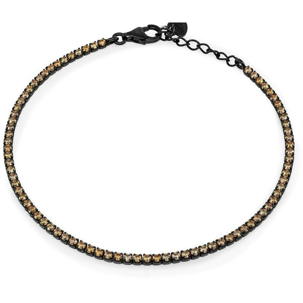 Mini Champagne Tennis Bracelet | Midnight Black Sterling Silver