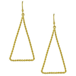 Twisted Triangle Earrings by SÍSÍ Design - My Beautiful Daughters