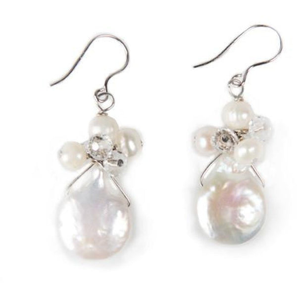 Flounce Coin Pearl Earrings - My Beautiful Daughters