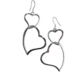 Jane Sterling Silver Heart Earrings - My Beautiful Daughters