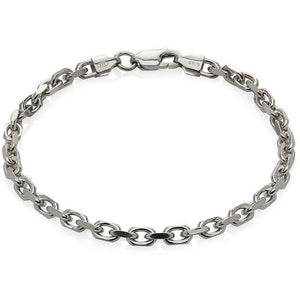 Men's Sterling Silver Cable Chain Bracelet